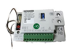 FERMAX Security Device Audio Amplifier for Speaker, Microphone - Aluminium
