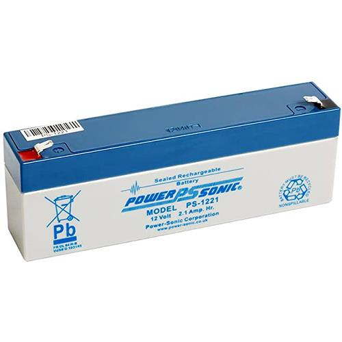 Power-Sonic PS1221VDS Battery - 2100 mAh - Sealed Lead Acid (SLA) - 12 V DC - Battery Rechargeable