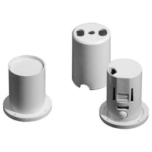 Knight Plastics XA51MULTICONTACT FLUSH 4T Multi White Round Plate