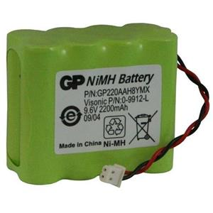 Visonic Battery - Nickel Metal Hydride (NiMH)/Nickel Cadmium (NiCd) - 1 - For Alarm Panel - Battery Rechargeable - 9.6 V DC - 2200 mAh