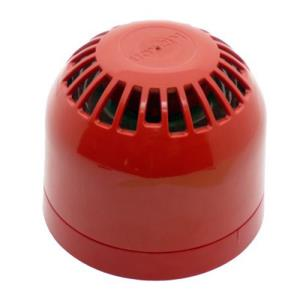 Klaxon Siren - Wired - 60 V DC - 106 dB(A) - Audible - Red