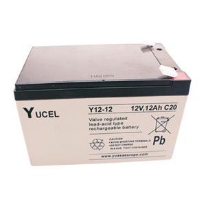 Yuasa Yucel Emergency Lighting Battery - 12000 mAh - Lead Acid - 12 V DC - Battery Rechargeable