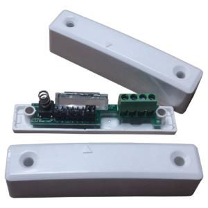 Knight Fire & Security YEND24 Magnetic Contact - 25 mm Gap - For Double Door - Surface Mount - White