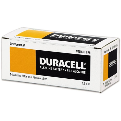 Duracell MN1500 Battery - Alkaline Manganese - 4 - For Multipurpose - AA - 1.5 V DC - 2600 mAh