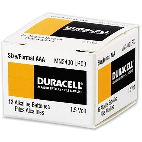 Duracell MN2400 Battery - Alkaline Manganese - 4 - For Multipurpose - AAA - 1.5 V DC - 1200 mAh
