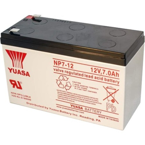 Yuasa NP7-12 Multipurpose Battery - 7000 mAh - Sealed Lead Acid (SLA) - 12 V DC - Battery Rechargeable