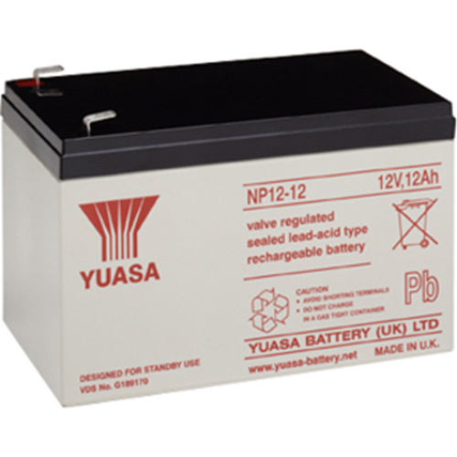 Yuasa NP12-12 Multipurpose Battery - 12000 mAh - Sealed Lead Acid (SLA) - 12 V DC - Battery Rechargeable