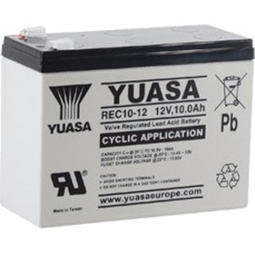 Yuasa Battery - Sealed Lead Acid (VRLA) - 1 - Battery Rechargeable - Proprietary Battery Size - 12 V DC - 10000 mAh
