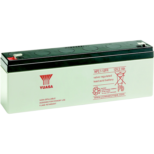 Yuasa NP2.1-12 Multipurpose Battery - 2100 mAh - Sealed Lead Acid (SLA) - 12 V DC - Battery Rechargeable