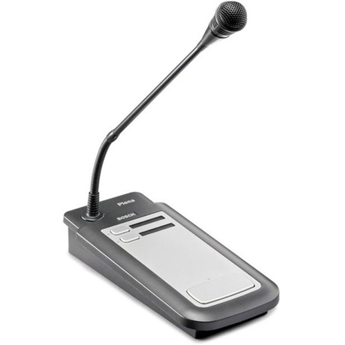 Bosch Plena Easy Line PLE-2CS Microphone - 100 Hz to 16 kHz - Wired - 5 m - 85 dB - Condenser - Uni-directional - Desktop - Proprietary