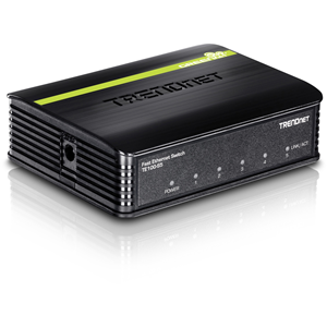 TRENDnet TE100-S5 5 Ports Ethernet Switch - 5 x Fast Ethernet Network - 2 Layer Supported - 5 Year Limited Warranty