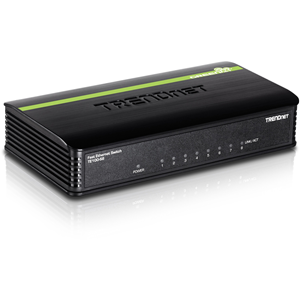 TRENDnet TE-100S8 8 Ports Ethernet Switch - 8 x Fast Ethernet Network - 2 Layer Supported - 5 Year Limited Warranty