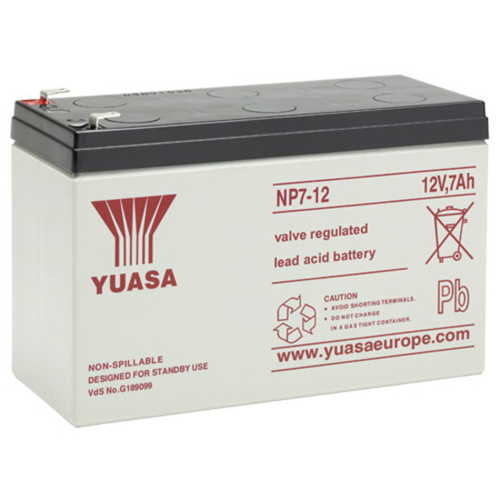 Yuasa NP24-12 Multipurpose Battery - 24000 mAh - Sealed Lead Acid (SLA) - 12 V DC - Battery Rechargeable