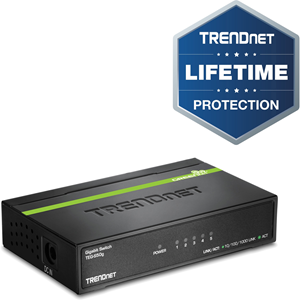 TRENDnet TEG-S50G 5 Ports Ethernet Switch - 5 x Gigabit Ethernet Network - 2 Layer Supported