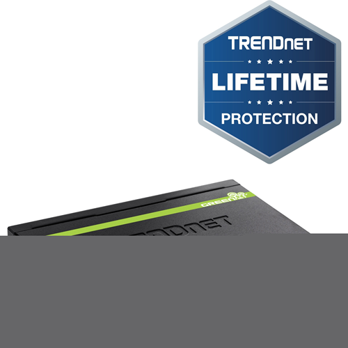 TRENDnet TPE-S44 Ethernet Switch - 2 Layer Supported - Desktop - 5 Year Limited Warranty