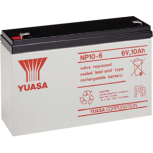 Yuasa NP10-6 Multipurpose Battery - 10000 mAh - Sealed Lead Acid (SLA) - 6 V DC - Battery Rechargeable