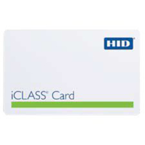 HID iCLASS Smart Card - Printable - Smart Card - 85.85 mm Width x 54.10 mm Length - White - Polyvinyl Chloride (PVC)