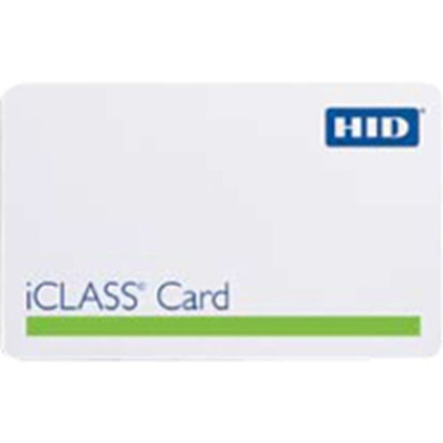 HID iCLASS 2002 Smart Card - Printable - Smart Card - 54.03 mm Width x 85.73 mm Length - White - Polyvinyl Chloride (PVC)