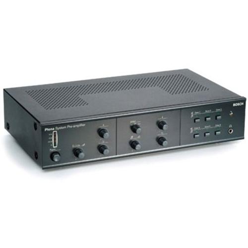 Bosch Plena LBB 1925/10 Preamplifier - 2 Channel - Charcoal - Multizone - 50 Hz to 20 kHz - 25 W
