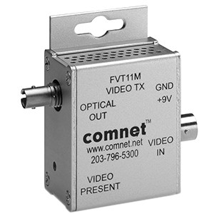 ComNet FVT11M Video Extender Transmitter - Wired - 1 Input Device - 1 Output Device - 4 km Range - 1 x ST Ports - Optical Fiber