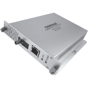 ComNet Transceiver/Media Converter - 2 Port(s) - 1 x Network (RJ-45) - 1 x ST - Optical Fiber, Twisted Pair - 10/100Base-TX, 100Base-FX - 3 km - Wall Mountable, Rack-mountable, Rail-mountable