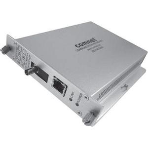 ComNet CNFE1002SAC1A-M Transceiver/Media Converter - 2 Port(s) - 1 x Network (RJ-45) - 1 x ST - 10/100Base-TX, 100Base-FX - 19.31 km - Rail-mountable, Rack-mountable, Wall Mountable
