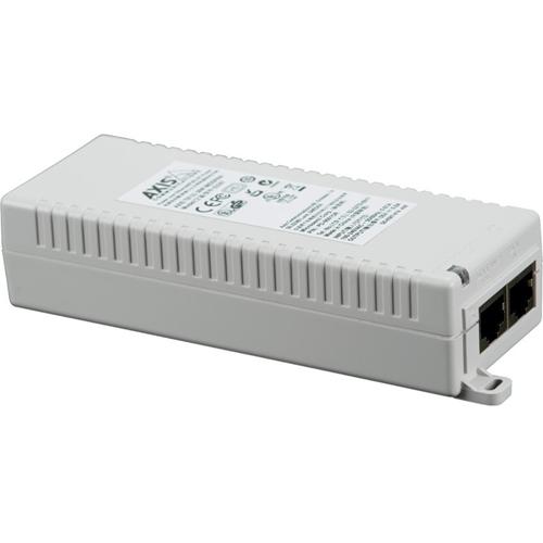 AXIS T8133 PoE Injector - 120 V AC, 230 V AC Input - 55 V DC Output - 1 10/100/1000Base-T Input Port(s) - 1 10/100/1000Base-T Output Port(s) - 30 W
