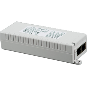 AXIS T8133 PoE Injector - 120 V AC, 230 V AC Input - 55 V DC Output - 1 10/100/1000Base-T Input Port(s) - 1 10/100/1000Base-T Output Port(s) - 30 W