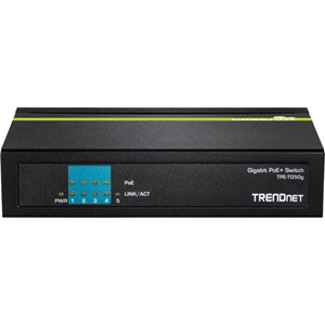 TRENDnet TPE-TG50g 5 Ports Ethernet Switch - 2 Layer Supported - Desktop - 3 Year Limited Warranty