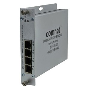 ComNet CNFE4SMS 4 Ports Manageable Ethernet Switch - 2 Layer Supported - Wall Mountable, Rack-mountable, Rail-mountable