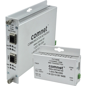 ComNet Video Extender Receiver - Wired - 1 Output Device - 1 km Range - 1 x HDMI Out - 1 x ST Ports - 1920 x 1080 Video Resolution - Full HD - Wall Mountable