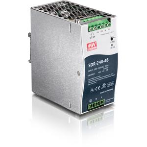 TRENDnet TI-S24048 Proprietary Power Supply - 94% Efficiency - 240 W - 120 V AC, 230 V AC Input Voltage - 48 V DC Output Voltage - DIN Rail