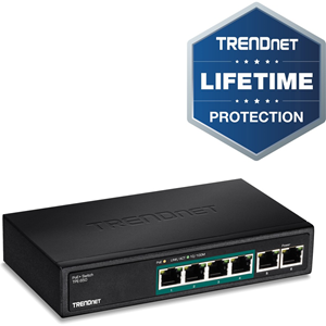 TRENDnet TPE-S50 6 Ports Ethernet Switch - 6 Network - Twisted Pair
