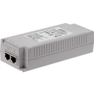 AXIS T8134 PoE Injector - 120 V AC, 230 V AC Input - 55 V DC Output - 1 10/100/1000Base-T Input Port(s) - 1 10/100/1000Base-T Output Port(s) - 60 W - Wall/Shelf/DIN Rail-mountable