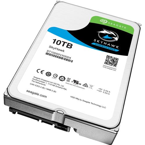 Seagate SkyHawk ST10000VX0004 10 TB Internal Hard Drive - SATA - 256 MB Buffer
