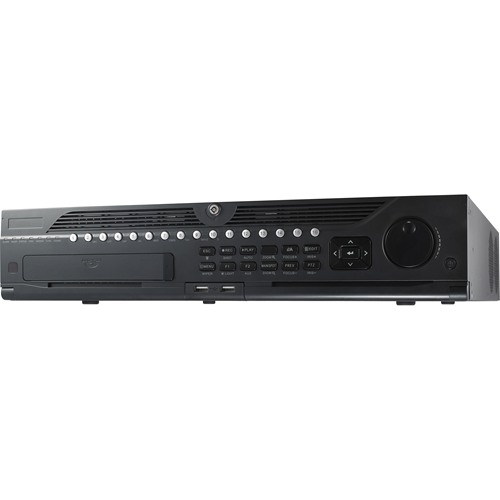 Hikvision DS-9632NI-I8 Video Surveillance Station - 32 Channels - Network Video Recorder - MPEG-4, H.264, H.265, H.264+ Formats - 1 Audio In - 2 Audio Out - 2 VGA Out - HDMI