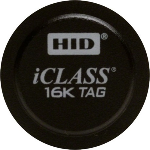 HID iCLASS RFID Tag - - Length32.64 mm Diameter - 100 - Black - Lexan