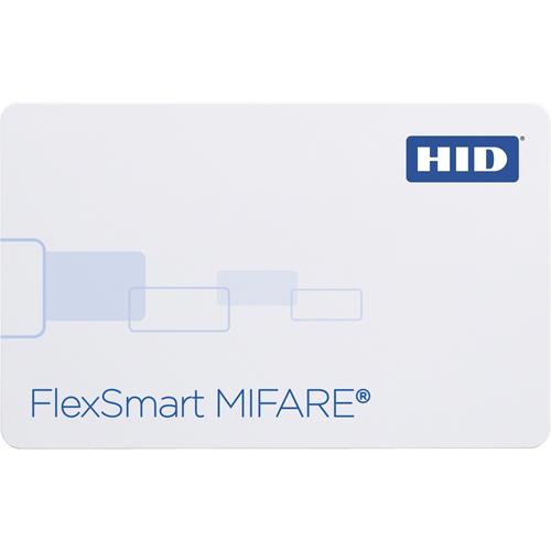 HID FlexSmart MIFARE Smart Card - Printable - Magnetic Stripe Card - 85.73 mm Width x 53.98 mm Length - White - Polyvinyl Chloride (PVC)