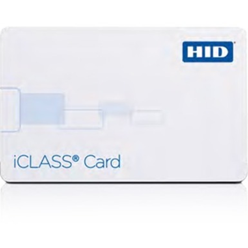 HID iCLASS ID Card - Printable - Smart Card - 85.73 mm Width x 54.03 mm Length - White - Polyvinyl Chloride (PVC)
