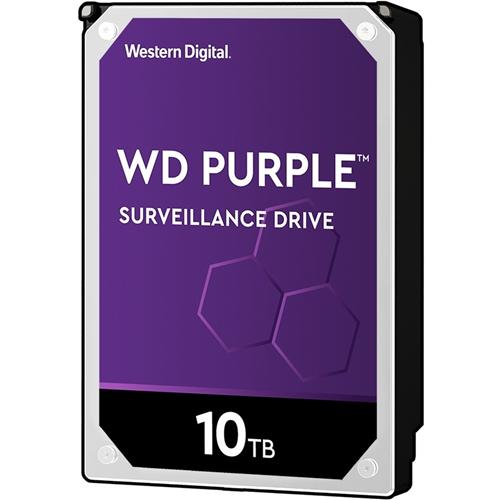 """WD Purple WD100PURZ 10 TB 3.5"""" Internal Hard Drive - SATA - 5400rpm - 256 MB Buffer"""
