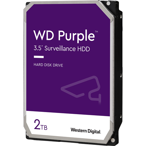"WD Purple WD20PURZ 2 TB 3.5"" Internal Hard Drive - SATA - 64 MB Buffer"