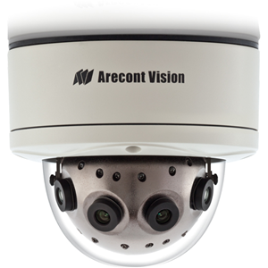 Arecont Vision SurroundVideo AV12186DN 12 Megapixel Network Camera - Monochrome, Colour - 8192 x 1536 - CMOS - Cable - Fast Ethernet - Dome