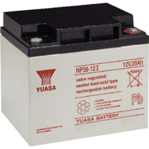 Yuasa NP38-12 Multipurpose Battery - 38000 mAh - Sealed Lead Acid (SLA) - 12 V DC - Battery Rechargeable