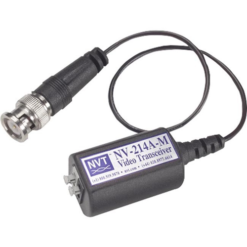 NVT NV-214A-M Video Extender Transmitter/Receiver - Wired - 1 Input Device - 1 km Range - Coaxial
