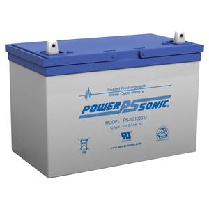 Power-Sonic PS-121000 Multipurpose Battery - 100000 mAh - Sealed Lead Acid (SLA) - 12 V DC - Battery Rechargeable
