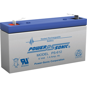 Power-Sonic PS-612 Multipurpose Battery - 1400 mAh - Sealed Lead Acid (SLA) - 6 V DC - Battery Rechargeable