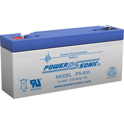 Power-Sonic PS-630 Multipurpose Battery - 3500 mAh - Sealed Lead Acid (SLA) - 6 V DC - Battery Rechargeable