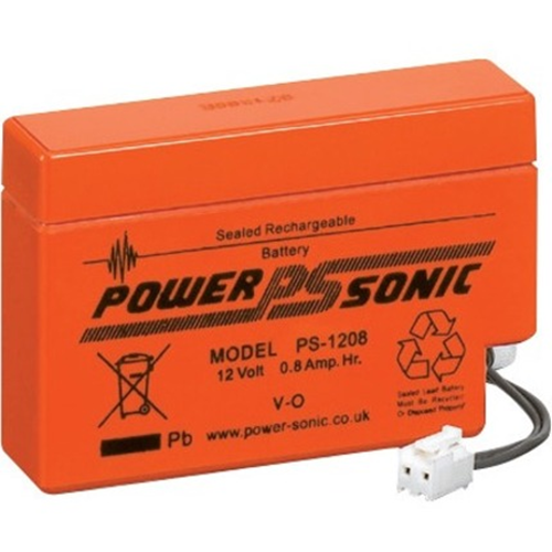 Power-Sonic PS-1208 V0 Multipurpose Battery - 800 mAh - Proprietary Battery Size - Sealed Lead Acid (SLA) - 12 V DC - Battery Rechargeable
