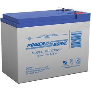 Power-Sonic PS-12100H General Purpose Battery - 10500 mAh - Sealed Lead Acid (SLA) - 12 V DC - Battery Rechargeable
