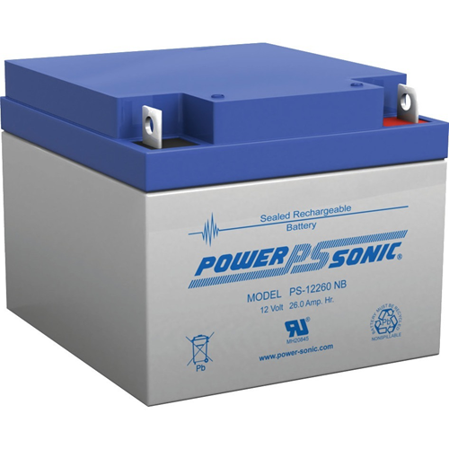 Power-Sonic PS-12260 General Purpose Battery - 26000 mAh - Sealed Lead Acid (SLA) - 12 V DC - Battery Rechargeable